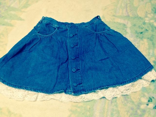 ファッション センター しまむら デニム素材のスカート.jpg